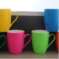 Wholesale Ceramic Mugs 11OZ. Ceramic Bright Color Drum-shaped Mug from china suppliers
