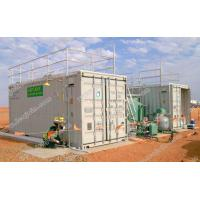 Containerized mobile water treatment plant for drinking