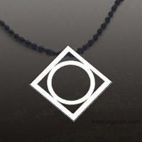Wholesale New Tocoy Tungsten Tungsten Pendant With Round Inside FA-T3020 from china suppliers