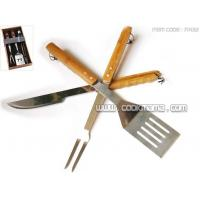Wholesale 3pcs bamboo handle bbq tools from china suppliers