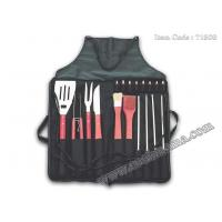 Wholesale 18pcs local Chinese wood handle bbq set with apron tote bag from china suppliers