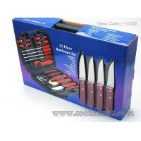 Wholesale 18pcs local Chinese wood handle bbq set with plastic storage case from china suppliers