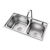 Wholesale #304 Double Stainless steel kitchen sink from china suppliers