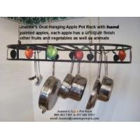 "Wholesale Pot Rack Oval with Hand Painted Apples18 x 36"" - HAPPLE_OVAL_POT_RACK from china suppliers"