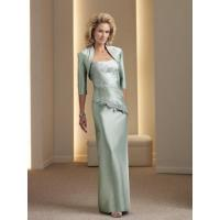 China Seductive Column Strapless Taffeta Dress to Mother Bridal Mother Dress with Applique on sale