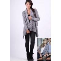 China Forever Unique Grey Kathy Knit Cardigan on sale
