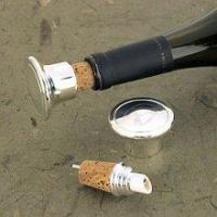 Engraved SilverPlated WineBottle Stopper/Pourer