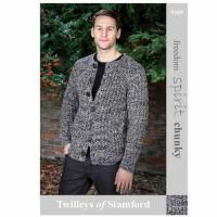 Wholesale Chunky cardigan knitting pattern for Freedom Spirit Chunky 5522 from china suppliers