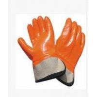 China PVC Coated Gloves Fleeced Jersey Cotton Liner PVC Coated Gloves with Safety Cuff on sale