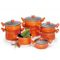 Wholesale Aluminum Cookware Set JP-001-12 12PCS Non-stick Cookware Set with Steamer from china suppliers