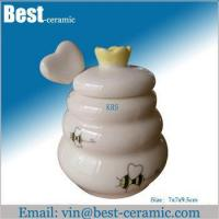 Wholesale Ceramic jar&canister ceramic honey jar from china suppliers