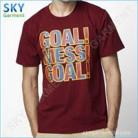 Wholesale MESSI GOAL 100% Cotton Men's Printed T Shirt from china suppliers