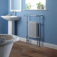 Wholesale BestBathrooms Traditional Brass Heated Towel Radiator 940mm x 635mm (With Stylish Angled Top Rail) from china suppliers