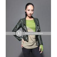 Wholesale Fashion Long Sleeve Casual Zipper Women's Short Jacket from china suppliers