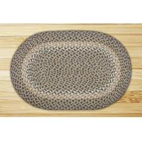 China Oval Blue and Natural Jute Braided Earth Rug on sale