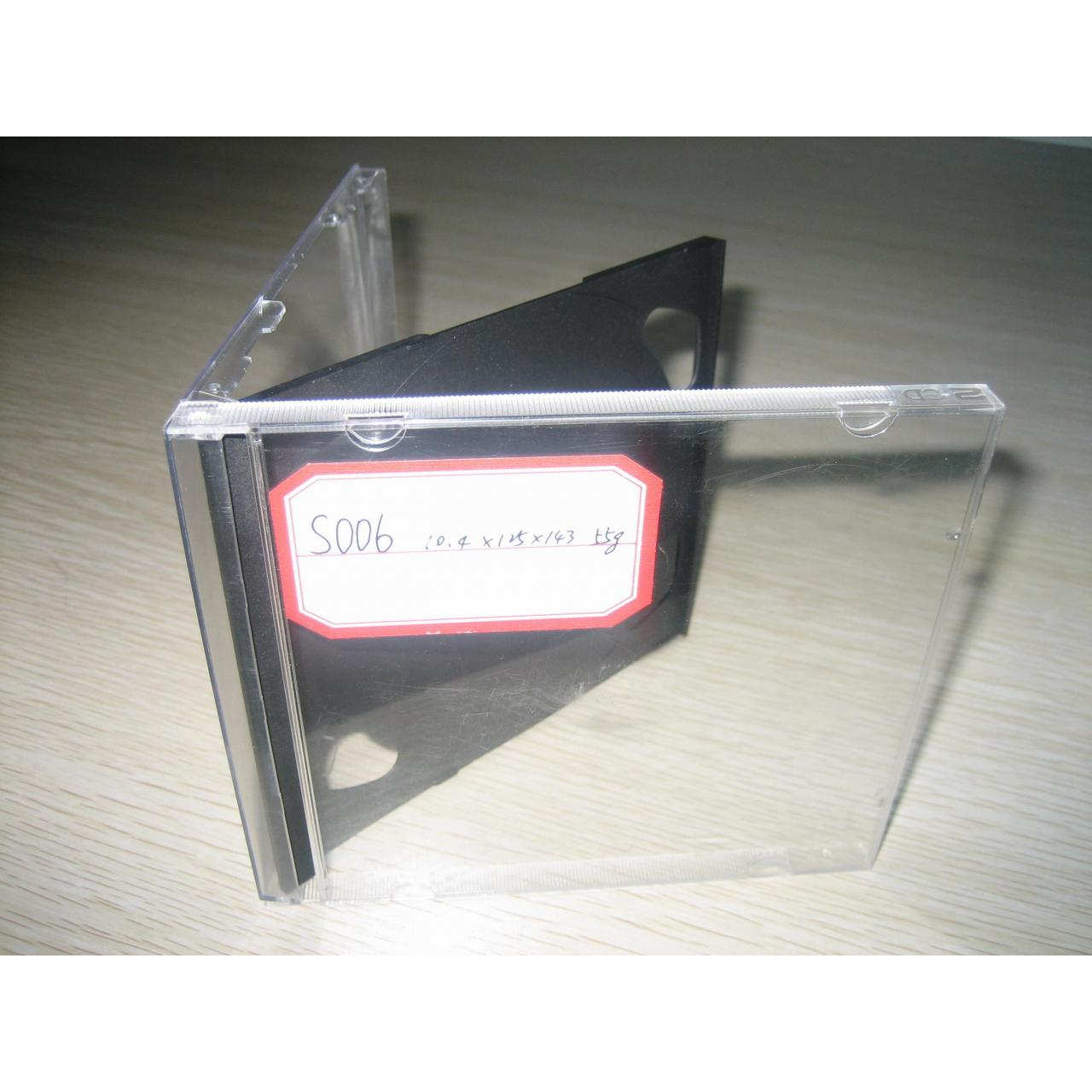 China 10.4MM DOUBLE BLACK JEWEL CD CASE WITH BLACK TRAY on sale
