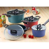 Wholesale Philos 4 Casseroles with Lid Dark Set Neoflam Nonstick Ecolon Cookware from china suppliers