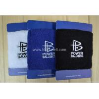 China New Power Balance Terrycloth Wristband C/W New gift box on sale