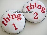 Wholesale Dr Seuss Thing 1 and 2 Pillow Set to Match Pottery Barn Kids Bedding ~ Custom Made for You from china suppliers
