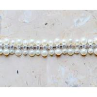 Wholesale RHINESTONE BANDING AND CHAIN 2 to 1 Pearl Rhinestone Chain from china suppliers