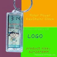 Wholesale Solar Power KeyChain with Clock from china suppliers