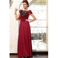 Wholesale Evening Dress Red Silk Deep Cowl Neck Prom Dress from china suppliers