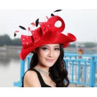 Wholesale Designer women feather hat with large brim and Free Shipping from china suppliers