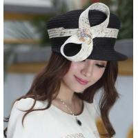 Wholesale Designer women fabric twist hat with diamond casings brooch and Free Shipping from china suppliers