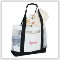 Buy cheap White Mesh Tote Bag - Personalized FREE from wholesalers