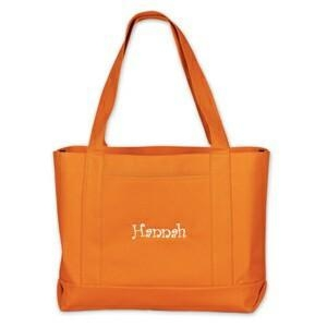 China Personalized Orange Tote Bags