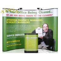 China Curved pop up banner stand on sale