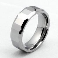Wholesale 8mm Mens Faceted Tungsten Carbide Ring from china suppliers