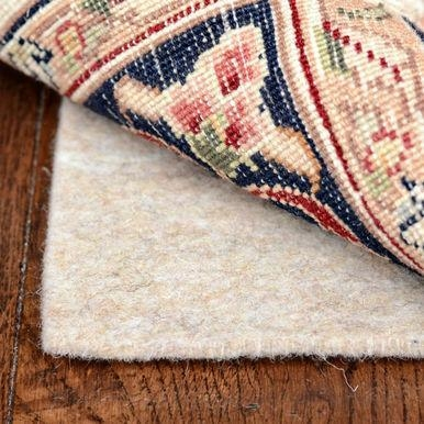 7 Foot Round Deluxe 1 4 Inch Thick 100 Felt Jute Area Rug