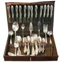 Wholesale x[SOLD] Lunt MOUNT VERNON 96 piece sterling flatware set from china suppliers