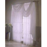 China Emily Sheer Curtain Panel, Sheer Door Panel, and Sheer Window Scarf on sale
