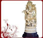 Wholesale Wood Carved Flute Vinayaka Statue from china suppliers