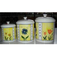 Wholesale earthenware 3pc canister set from china suppliers