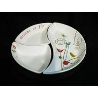 Wholesale Porcelain Snack Plate with Wooden Tray with Gift Box from china suppliers