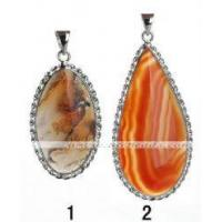 Wholesale SPW45 oval moss agate pendant jewelry 925 silver from china suppliers