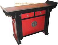 Wholesale Table TB-168p3 Chinese Red & Black Lacquer Altar Table from china suppliers