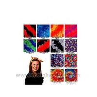 Wholesale Tie dye bandanna with wax printing multi color design. from china suppliers