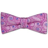 Wholesale Paul Williams Pink Vortex Silk Bow Tie from china suppliers