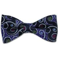 Wholesale Paul Williams Purple Vortex Silk Bow Tie from china suppliers