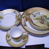 Wholesale Round Shape Ceramic & Porcelain  Dinner Set - 20 pcs from china suppliers