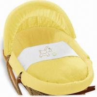 Wholesale Yellow Horse Moses Baskets with Adjustable Hood and Foam Mattress from china suppliers