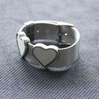 Buy cheap Sublimation Stainless Steel Bracelet Blank Ladies Bangle Heat Transfer With Heart Shape Ornaments from wholesalers
