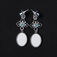 Buy cheap Sublimation Blank Earrings Stud Crystal Hanging Style jewelry Accessories For Image Customized from wholesalers