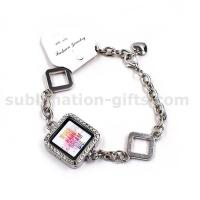 Buy cheap Sublimation Cuff Bracelet, Photo Pendant Bracelet Glass Frame Jewelry Heat Transfer B04 from wholesalers