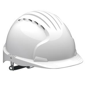 China Head Protection EVO5 Olympus Hard Hat - Slip Ratchet - White - Vented