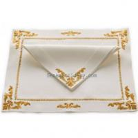 Wholesale Gold hand embroidery napkins from china suppliers